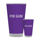 Full Color Glass 17oz-Phi Gam