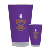 Full Color Glass 17oz-Crest