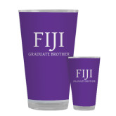 Full Color Glass 17oz-FIJI Graduate Brother