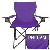 Deluxe Purple Captains Chair-Phi Gam