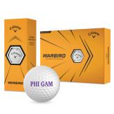 Callaway Warbird Golf Balls 12/pkg-Phi Gam
