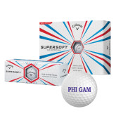 Callaway Supersoft Golf Balls 12/pkg-Phi Gam