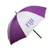 64 Inch Purple/White Umbrella-FIJI