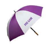 64 Inch Purple/White Umbrella-Phi Gam