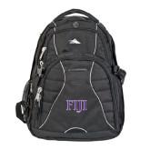 High Sierra Swerve Black Compu Backpack-FIJI Two Color