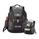 High Sierra Big Wig Black Compu Backpack-Phi Gam Two Color