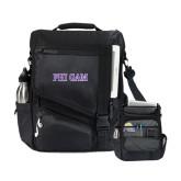 Momentum Black Computer Messenger Bag-Phi Gam Two Color