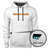 Contemporary Sofspun White Hoodie-Findlay Oilers Word Mark