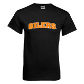 Black T Shirt-Oilers Word Mark Arched