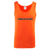 Orange Tank Top-Findlay Oilers Word Mark