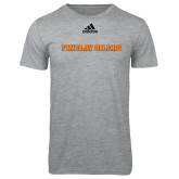Adidas Sport Grey Logo T Shirt-Findlay Oilers Word Mark