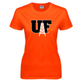 Ladies Orange T Shirt-Primary Mark