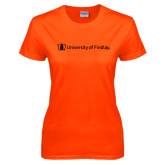 Ladies Orange T Shirt-University of Findlay