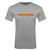 Grey T Shirt-Findlay Oilers Word Mark