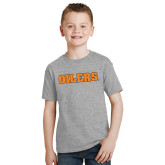 Youth Grey T-Shirt-Oilers Word Mark
