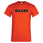 Orange T Shirt-Oilers Word Mark