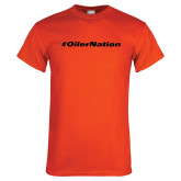 Orange T Shirt-Oiler Nation Hashtag