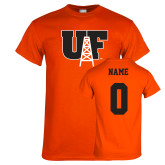 Orange T Shirt-Primary Mark, Custom Tee w/ Name and #