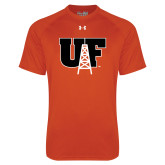 Under Armour Orange Tech Tee-Primary Mark