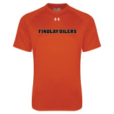 Under Armour Orange Tech Tee-Findlay Oilers Word Mark