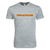 Next Level SoftStyle Heather Grey T Shirt-Findlay Oilers Word Mark