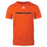 Adidas Orange Logo T Shirt-Findlay Oilers Word Mark