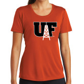 Ladies Syntrel Performance Orange Tee-Primary Mark