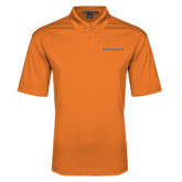 Orange Performance Fine Jacquard Polo-Findlay Oilers Word Mark