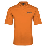 Orange Performance Fine Jacquard Polo-Oilers Word Mark