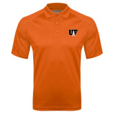 Orange Textured Saddle Shoulder Polo-Primary Mark