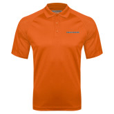 Orange Textured Saddle Shoulder Polo-Findlay Oilers Word Mark