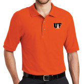 Orange Easycare Pique Polo-Primary Mark
