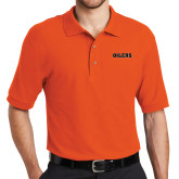 Orange Easycare Pique Polo-Oilers Word Mark