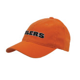 Orange OttoFlex Unstructured Low Profile Hat-Oilers Word Mark