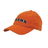 Orange OttoFlex Unstructured Low Profile Hat-Oilers Word Mark Arched
