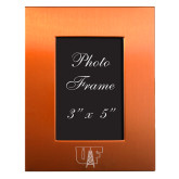 Orange Brushed Aluminum 3 x 5 Photo Frame-Primary Mark Engraved