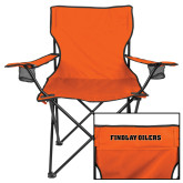 Deluxe Orange Captains Chair-Findlay Oilers Word Mark