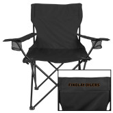 Deluxe Black Captains Chair-Findlay Oilers Word Mark