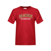 Youth Red T Shirt-Baseball