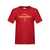 Youth Red T Shirt-Baseball Design