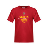 Youth Red T Shirt-Basketball Design