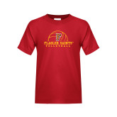 Youth Red T Shirt-Volleyball Design