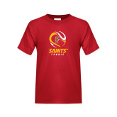 Youth Red T Shirt-Tennis Design