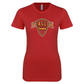 Next Level Ladies SoftStyle Junior Fitted Red Tee-Primary Mark