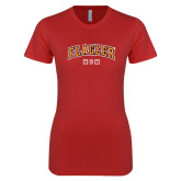 Next Level Ladies SoftStyle Junior Fitted Red Tee-Mom