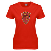 Ladies Red T Shirt-Secondary Mark