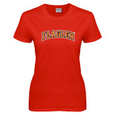 Ladies Red T Shirt-Flagler Arched