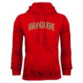 Red Fleece Hoodie-Flagler Arched