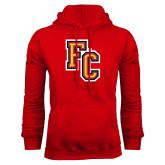Red Fleece Hoodie-FC Logo