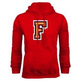 Red Fleece Hoodie-Letter F Logo